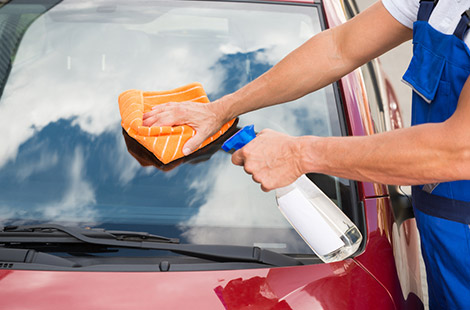 exterior car wash along with expert detailing services